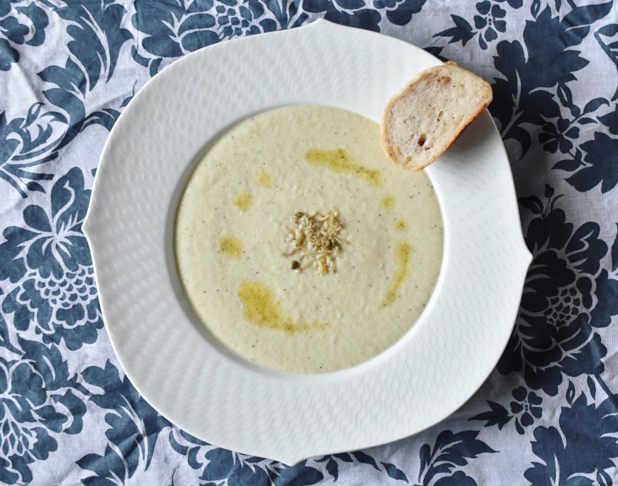 じゃこ山椒と玉ねぎのポタージュスープ